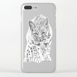 On the Prowl :: A Young Bobcat Clear iPhone Case