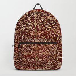 Golden Swirled Red Book Cover Backpack
