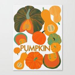 Eat Your Veggies - Pumpkin Canvas Print
