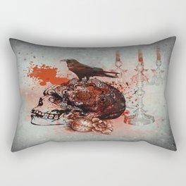 Skull and Crow Tattoo Rectangular Pillow