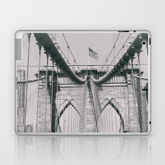 Brooklyn bridge, architecture, vintage photography, new york city, NYC, Manhattan view Laptop & iPad Skin