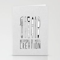 bianca green Stationery Cards featuring weapons of mass creation by Bianca Green