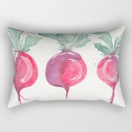 Watercolor beets Rectangular Pillow
