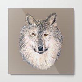 Grey Wolf Metal Print