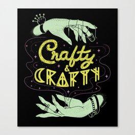 Crafty & Crafty Canvas Print