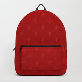Chirstmas Hearts Snowflakes Pattern Red Backpack