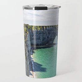 The cliffs of Etretat Travel Mug