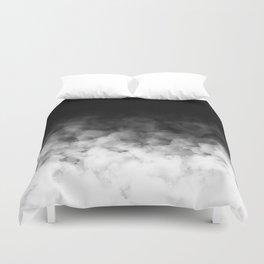 Ombre Black White Clouds Minimal Duvet Cover