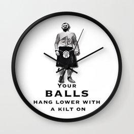 Scotsman in a kilt Wall Clock