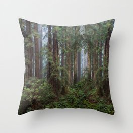 Morning In The Park Throw Pillow