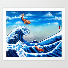 The Great Wave off Kanagawa Revisite Art Print