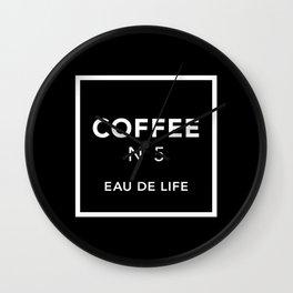 Black Coffee No5 Wall Clock