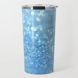 Sparkling Baby Sky Blue Glitter Effect Travel Mug