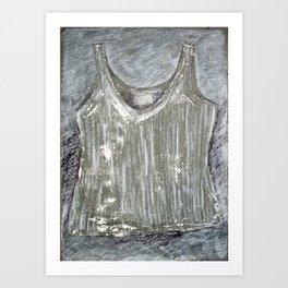 Gray shirt Art Print