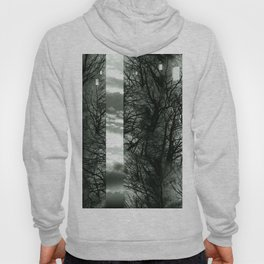 Wood Space Black and White Hoody