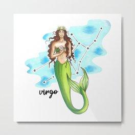 Virgo Mermaid Metal Print
