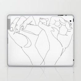minimalist hand drawing Laptop & iPad Skin
