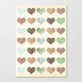 DG HEARTS - RUSTIC Canvas Print