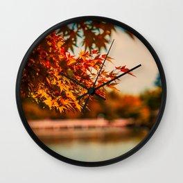 Autumn Scene (Color) Wall Clock