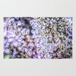Top Shelf Grand Daddy Purple Close Up Buds Trichomes View Rug