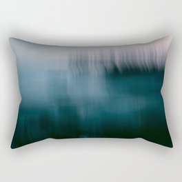 Forest Wilderness by the Sea Abstract Rectangular Pillow
