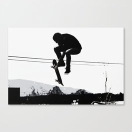Flying High Skateboarder Canvas Print