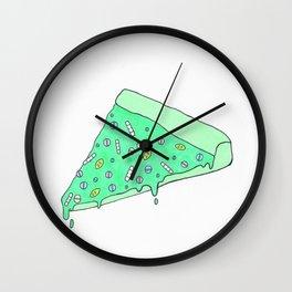 Pam Pizza Green Wall Clock
