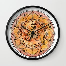 Fall Colour Butterfly Wall Clock