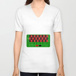 Roulette Table Unisex V-Neck