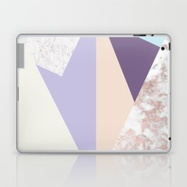 Geometrical faux rose gold pastel colors colorblock Laptop & iPad Skin