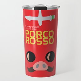 Porco Rosso - Hayao Miyazaki minimalist movie poster - Studio Ghibli, japanese animated film Travel Mug