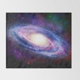 Spiral Galaxy Throw Blanket
