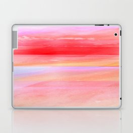 Seascape in Red, Yellow and Pink Laptop & iPad Skin