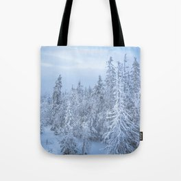 Winter forest in the Mountains Tote Bag