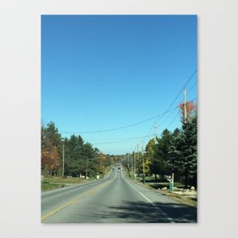 Hilltop Road Canvas Print