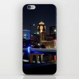 Des Moines Night Skyline iPhone Skin