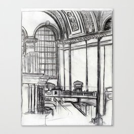 Grand Central (charcoal) Canvas Print