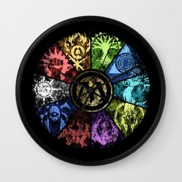 Magic the Gathering - Faded Guild Wheel Wall Clock