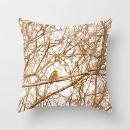 Robin In Early Spring #decor #society6 Throw Pillow