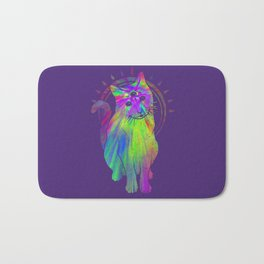 Psychedelic Psychic Cat Bath Mat