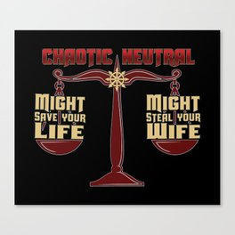 D&D - Chaotic Neutral Canvas Print