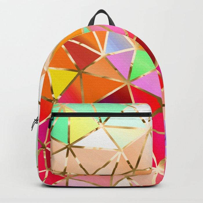 Rainbow Geometric Pattern #7 Backpack
