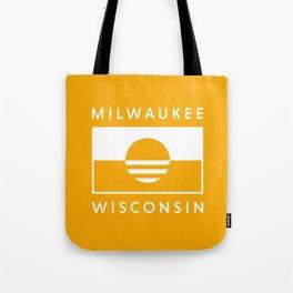 Milwaukee Wisconsin - Gold - People's Flag of Milwaukee Tote Bag