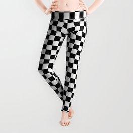 Black White Checks Leggings