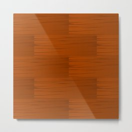 Wood Grain Pattern Metal Print