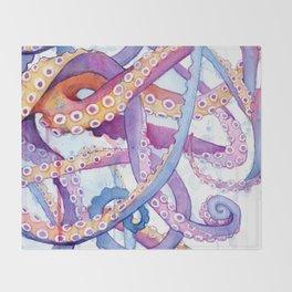 Octopus II Throw Blanket