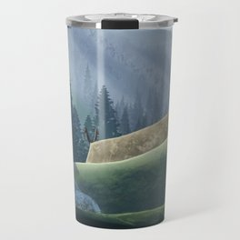 Viking Village in the Forest Travel Mug
