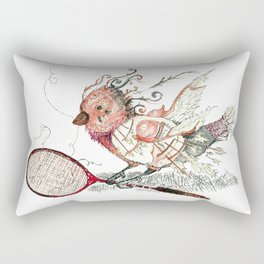 The Wild Badminton Birdie Rectangular Pillow