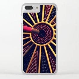 Dart Board Clear iPhone Case
