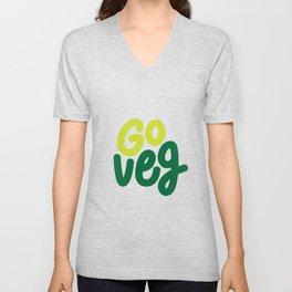 Go Veg sticker Unisex V-Neck